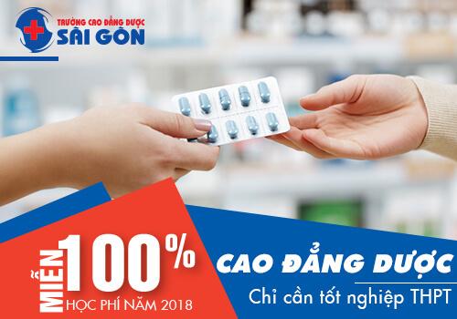 Miễn 100% học phí học Cao đẳng Dược Sài Gòn năm 2018