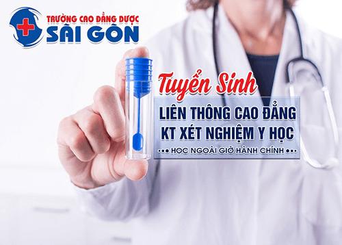 Trường Cao đẳng Dược Sà i Gòn tuyển sinh Liên thông Cao đẳng kỹ thuật Xét nghiệm Y học Sà i Gòn